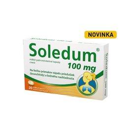 Cassella-med GmbH & Co.KG Soledum 100 mg mäkké gastrorezistentné kapsuly, 20 ks