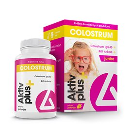 Delta Aktiv plus+ Colostrum & BiO Arónia Junior prášok 38 g