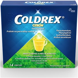 Coldrex Horúci nápoj Citrón plo.por.14 x 5 g